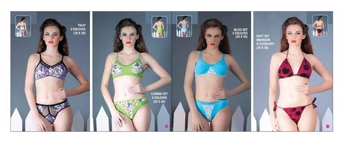 Ladies Bra Panty Set in  1-Sector - Bawana