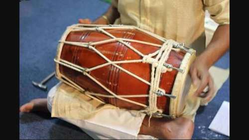 Dholak (Rope+Bolt) Body Material: Wood