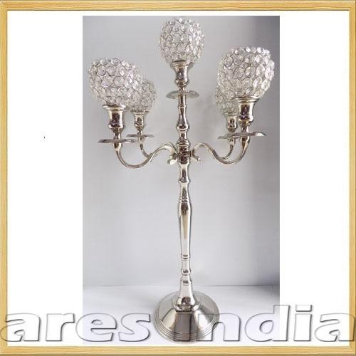 69cm Crystal 5 Arm Candelabra Wedding Centrepieces