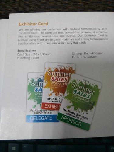 Exhibitor Card