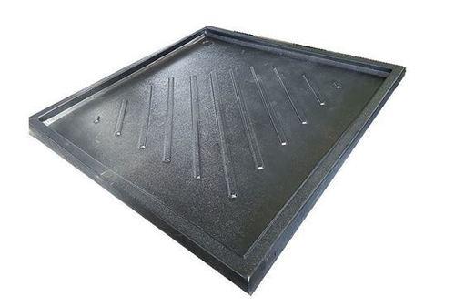 Square Shower Tray Black