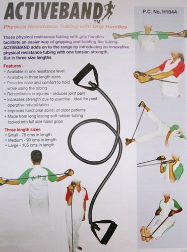 Physical Resistance Tubing With Grip Handles