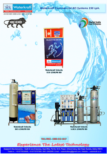 Warterkraft Velocity 250lph Water Purifiers in   CHHEND COLONY