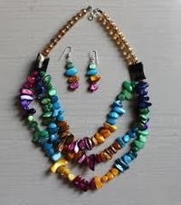 Fashion Artificial Necklace Sets With Beads