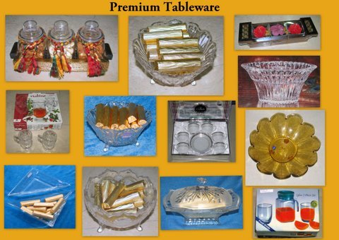 Glass Bowl and Tableware