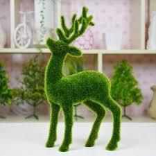 Artificial Grass Decorative Deer