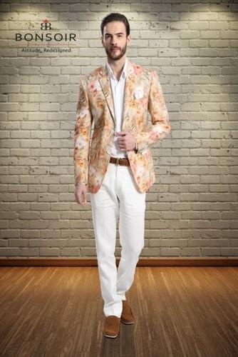 Printed Linen Suit