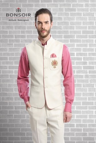 Regular Fit Pink Waistcoat Set