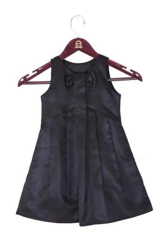 Black Bow Kids Party Dress
