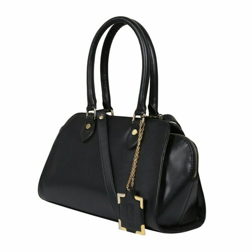 Attractive Black Ladies Synthetic Leather Bags