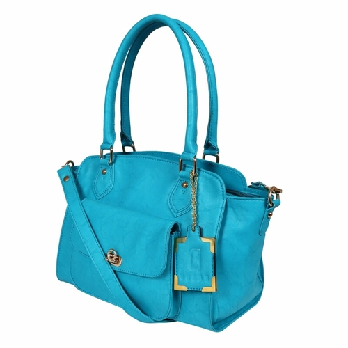 Blue Ladies Synthetic Leather Bags
