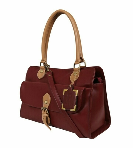 Light Brown Beige Ladies Synthetic Leather Bags