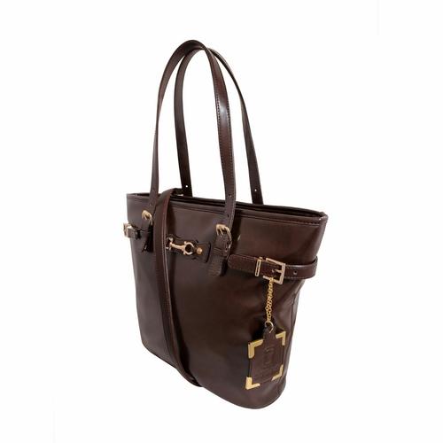 Und 00100 Dark Brown Designer Leather Handbags