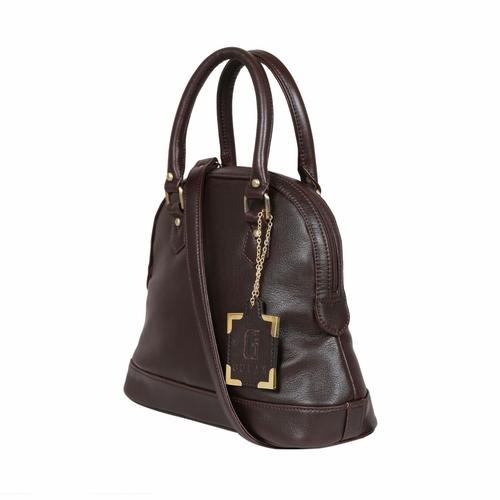 UND 00115 Brown Ladies Leather Zipper Handbags
