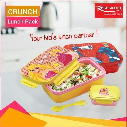 Rishabh Crunch DLX Small Big Plastic Lunch Boxes - Shanti
