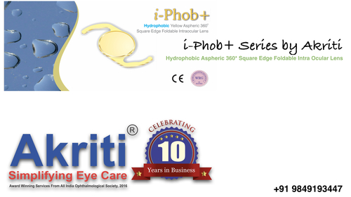 Square Edge Yellow Foldable Intraocular Lens in  Mehdipatnam