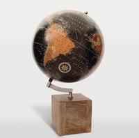 Wood And Iron Table Globes