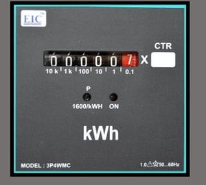 Mechanical Counter Type Three Phase KWH Meter