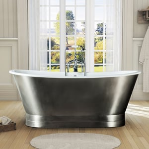 Cast Iron Tub With Stainless Steel Skirt