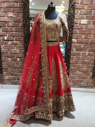 Attractive Design Bridal Lehenga in  Araghar