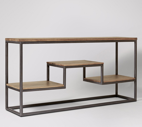 Top Quality Wooden Console Table With Shelves