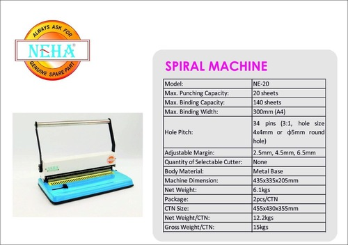 Light Weight Spiral Binding Machines