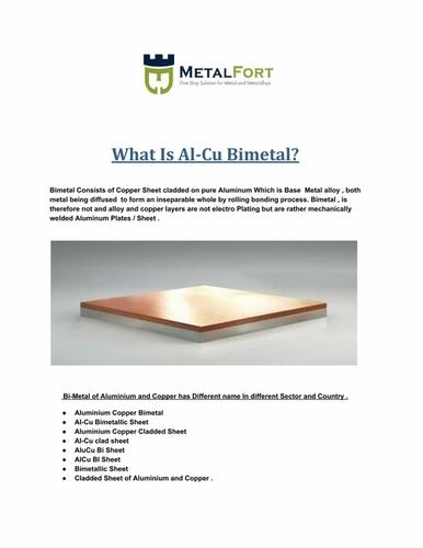 Aluminium & Copper Bimetal Sheets