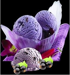 Black Current Flavored Ice Cream