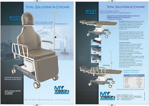 Eyecare Hospital Chair And Motorised Table