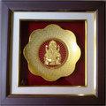 Ganesh Gold Plated Round Photo Frame