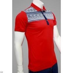 Men's Collar Fancy T-shirts in  Brahampuri
