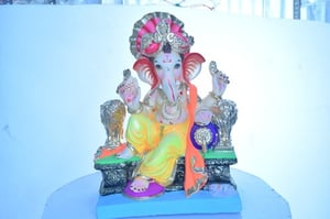 Demanded Colored Clay Ganesh Statues