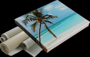 Wrapped/Mounted On Wooden Frame Printing Services
