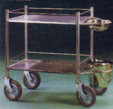 SS Instrument Trolley (with SS Bowl and Tray)