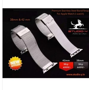Studio-Y Stainless Steel Watch Band/Strap - Ml2 For 42mm Apple Watch