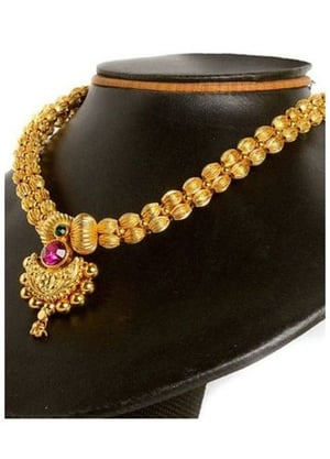 Gold Plated Traditional Necklace