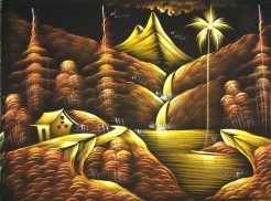 Golden Nature Painting