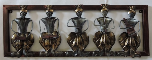 Metal Rajasthani Musician Decorative Wall Hangings