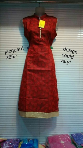 Ladies Fancy Jacquard Kurtis in  Gandhi Nagar