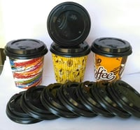 Rigid Paper Coffee Cups With Sipper Lid