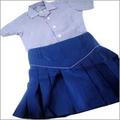 School White & Blue Skirt