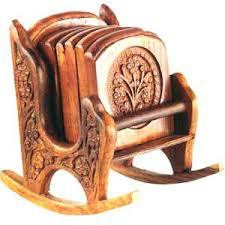 Wooden Coaster With Holder