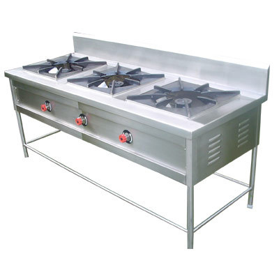 3 Burner Commercial Kitchen Range - Steel Crafts Equipment ...