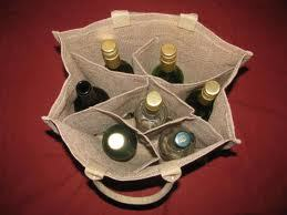 Stylish Jute Wine Bag