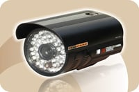 Round Shape With Designed Cover In Black Metal Body With 48 Ir (Cctv Camera)