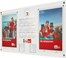 Wall Calender With Clock And Poster On Sunboard