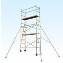 Double Width Aluminium Scaffold With Stairway