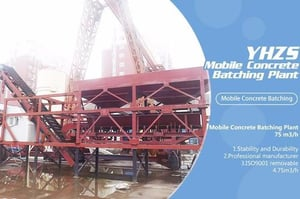 YHZS25 Low Cost Mini Mobile Sand Cement And Beton Concrete Batching Plant