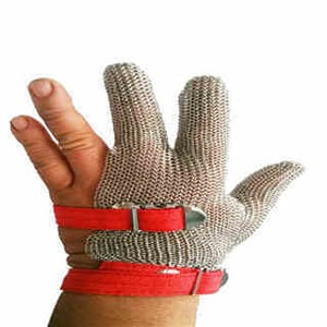 Three Finger Stainless Steel Mesh Chainmail Glove