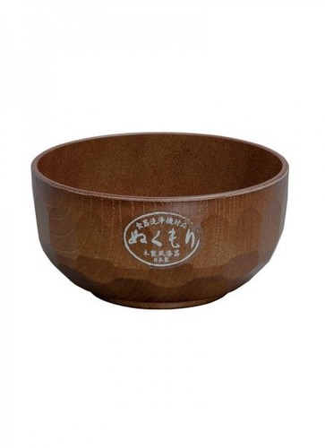 Wood Finish Plastic Bowl